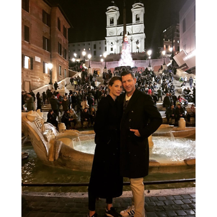 That's amore! Christy Turlington posted this cute snap of herself and her husband Ed Burns enjoying the lights in Rome. 