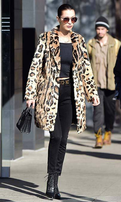 The 20-year-old favours an edgier look, with all-black and leopard-print ensembles a go-to.