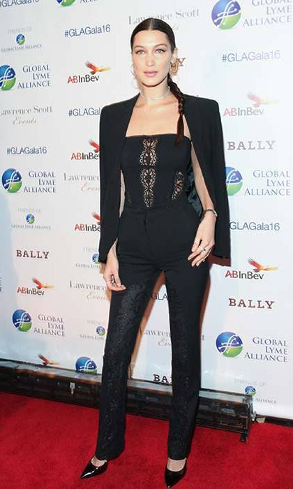 Head-to-toe black is a favourite for Bella, both off and on the red carpet.