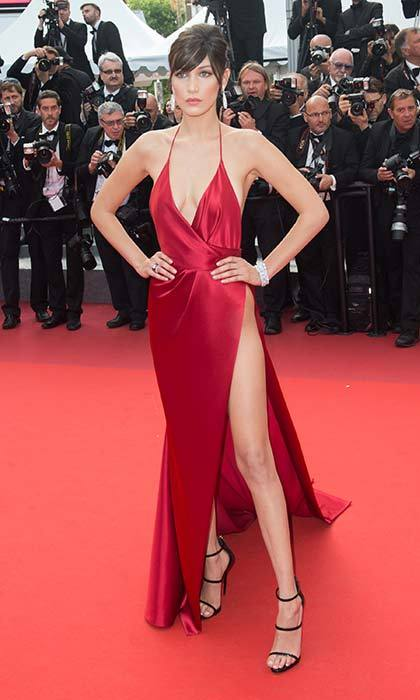 Bella made a red-hot red-carpet appearance in this daring gown.