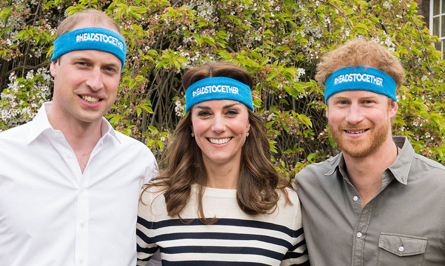 The royal trio launched the Heads Together campaign in May.