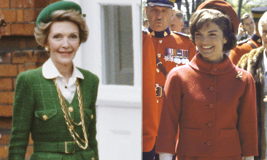 <h2>Nancy Reagan</h2><p>A true fashion lover, Nancy turned to top designers including Oscar de la Renta and Carolina Herrera during her husband Ronald's presidency in the '80s. Her Chanel-inspired power suits harkened back to Jackie's iconic outfits. Nancy favoured crimson shades – often referred to as 'Reagan Red' – and shrugged off critics who lambasted her extensive (and expensive) wardrobe. 'You have your way of doing things, and that's it.'</p>