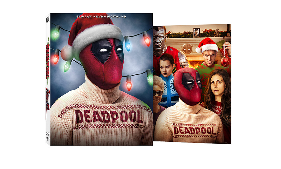 Deadpool (Blu-ray with collectible holiday box art and greeting card), $53.76.