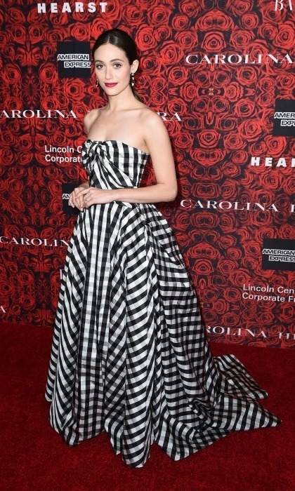 Emmy Rossum is a big fan of Carolina Hererra.