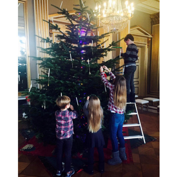 Prince Christian, Princess Isabella and five-year-old twins Prince Vincent and Princess Josephine of Denmark decorated the family tree in a photo shared on their official Instagram account. The sweet sibling picture shows the young Princes and Princesses of Denmark at their winter residence, Amalienborg Palace.