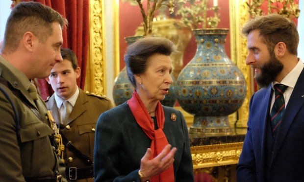 Princess Anne welcomed members of the Not Forgotten charity into St. James's Palace for Christmas tea.