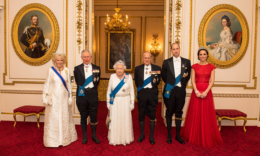 "On Thursday evening (Dec. 8), Buckingham Palace released a new portrait of <a href=""/tags/0/queen-elizabeth-ii"" target=""_blank"">the Queen</a> and her family, showing the royals posing in their finery ahead of the annual diplomatic reception.