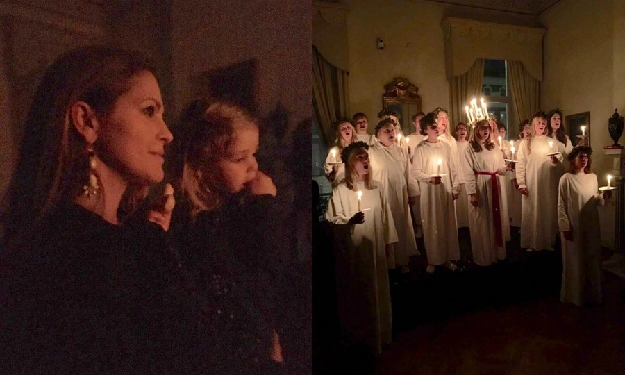"Princess Madeleine and Princess Leonore tapped into their Swedish roots in London. The royal duo, along with Leonore's dad Chris O'Neill, made a holiday outing to watch a performance in honour of Saint Lucy, whose feast day is Dec. 13. Sharing photos on Facebook, Madeleine wrote, ""Yesterday Chris and I took Leonore to the Swedish Residency in London to watch St Lucia appear, a bit early this year, but yet so beautiful and so very Swedish!"" 