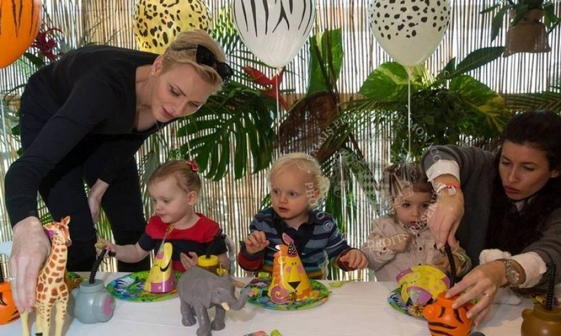 December 2016: Prince Jacques and Princess Gabriella had a wild time at their jungle-themed surprise second birthday party on December 7. 