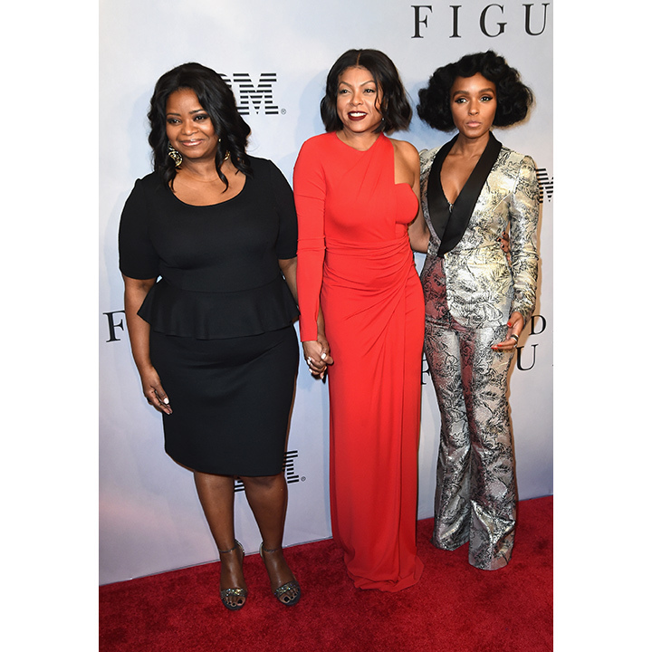 December 10: Octavia Spencer, Taraji P. Henson and Janelle Monáe walked the red carpet together at a screening of their new film <i>Hidden Figures</i> in New York. 