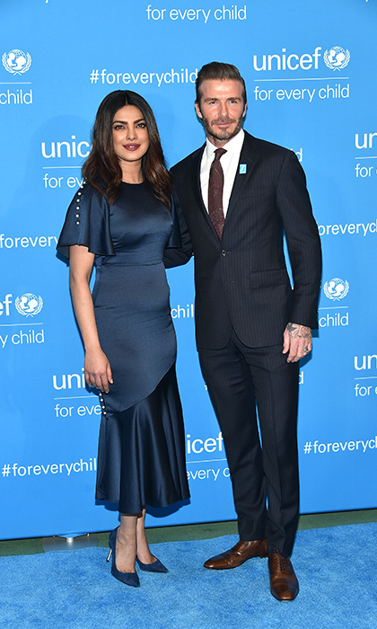 December 12: Priyanka Chopra and David Beckham made a powerful pair at UNICEF's 70th anniversary gala in New York. 
