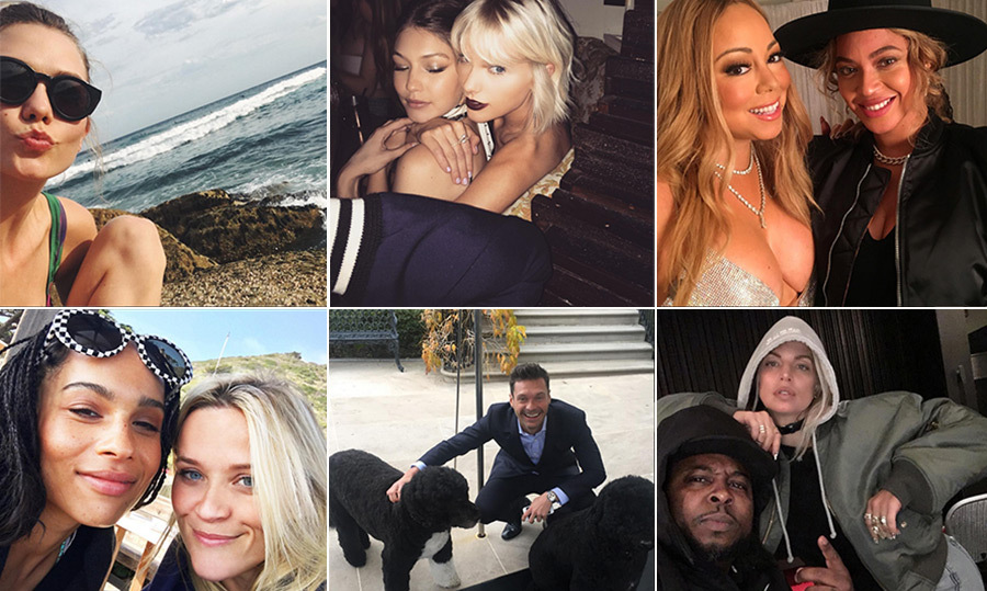 See what the stars shared on social media this month.