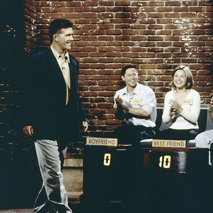 Alan hosted the reboot of the '70s gameshow <em>Three's a Crowd</em> in 2000. 