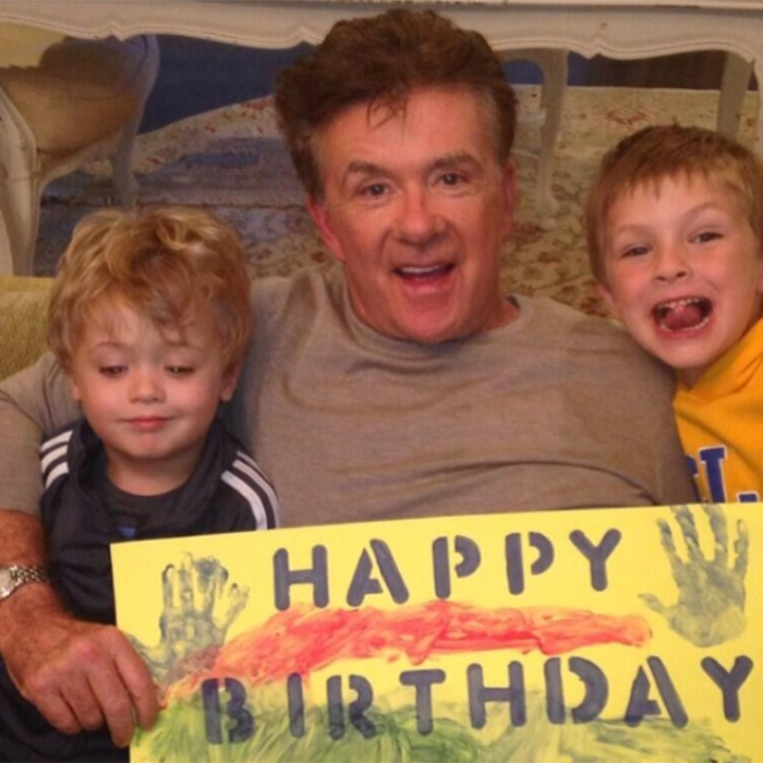 Alan was the proud grandfather of two adorable boys. Robin's six-year-old son Julian and Brennan's son Tyler (R). 