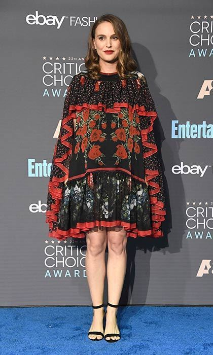 Natalie in custom Alexander McQueen at the 2016 Critic's Choice Awards.