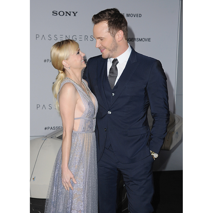 December 14: Chris Pratt and Anna Faris couldn't keep their eyes off each other at the premiere of <em>Passengers</em> in Hollywood. 