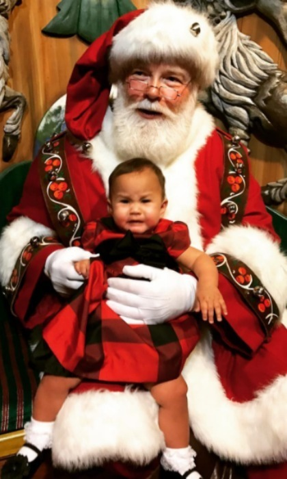 "Meeting Santa didn't go very well. The hilarious mom captioned the moment, ""'She did such a good job!' 'She didn't even cry!' We only share what we want you to see, my loves. Lol."" 