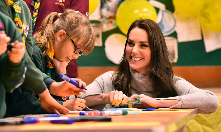 "The Duchess smiled as she and young scouts jotted down the things they are good at and their promise to help others for the Cubs' wall of positivity. ""I'll have a go but I think it'll be a short list!"" Kate said, before writing ""Bonfire building.""