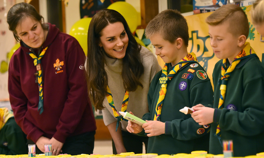 The British royal was on hand to celebrate the Cubs' 100th anniversary with 24 girls and boys aged between 8 and 10½, participating in a range of fun activities designed to help them to learn vital life skills.