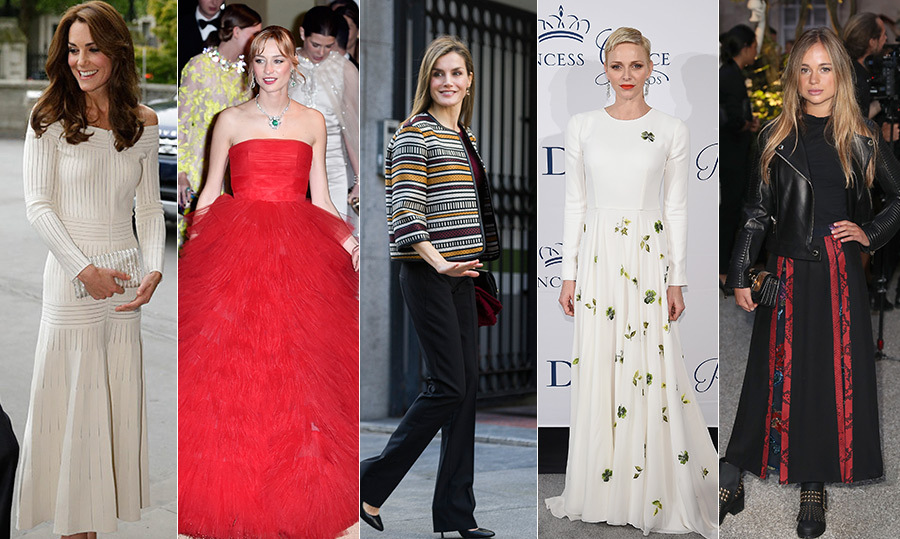 It was a stylish year for royal women around the world! From Kate's off-the-shoulder Barbara Casasola dress that had everyone talking to Lady Amelia Windsor stepping into the sartorial spotlight and Beatrice Borromeo settling into life as a royal with a little help from her always on-trend sister-in-law Charlotte Casiraghi, 2016 saw some of the most eye-catching fashion to date. 