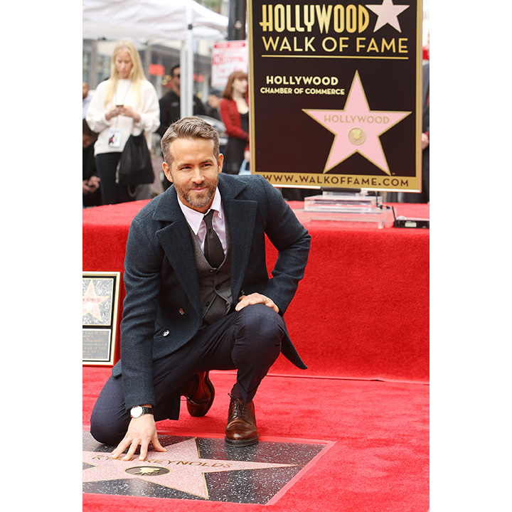 Ryan poses with his star.