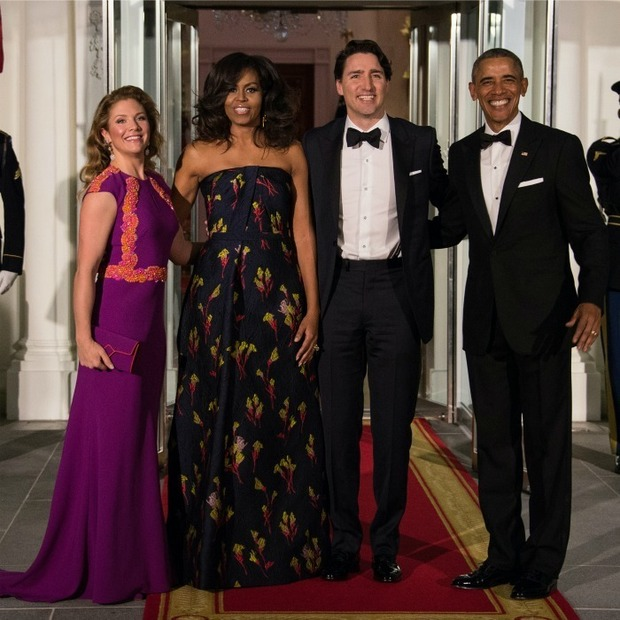 Justin Trudeau played a role in the Obamas' viral Christmas card