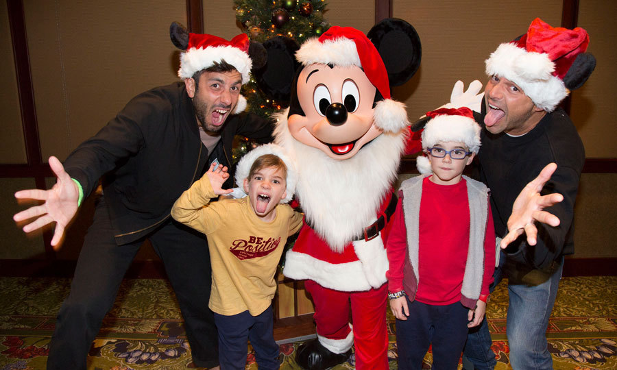 Just plain goofy! Ricky Martin got silly with his twins Matteo and Valentino, along with fiancé Jwan Yosef during a family visit to the magical kingdom. 