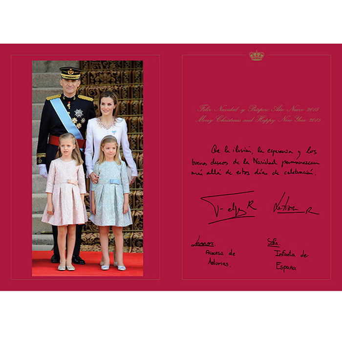 <h3>Spain</h3><p>In the last few years Father Christmas has also made his way to Spain. So King Felipe and Queen Letizia's pretty lookalike daughters will wake up to find a small present under the tree. The royal couple host the customary Spanish Christmas Eve dinner in the Zarzuela Palace for his parents, the former sovereign, King Juan Carlos, and Queen Sofia. For New Year's Eve Queen Sofia will fly to Greece, where her brother, the country's former King Constantine, has lived since his return from exile in London.</p><p>On the eve of Epiphany on Jan. 5, Spanish children traditionally receive gifts from the three Kings and eat roscon, a ring of brioche filled with cream and containing a present for one lucky child to find. It's an especially big day for the family, as it's also the birthday of patriarch Juan Carlos.</p><p>Photo: &copy; Spanish Royal Household