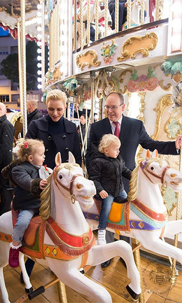 Today, it's her son, <Strong><a href=/tags/0/prince-albert-ii>Prince Albert</a></strong>, and his wife, <Strong><a href=/tags/0/princess-charlene>Charlene</a></strong>, who welcome eager youngsters to the Grimaldi palace along with Père Noël (Father Christmas) for an afternoon of presents and fun. 