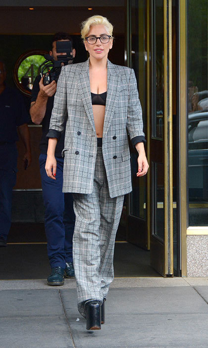 "<a href=""/tags/0/lady-gaga/"" target=""_blank"">Lady Gaga</a> elected to wear nothing but a bralette and pantsuit to run errands in New York City.