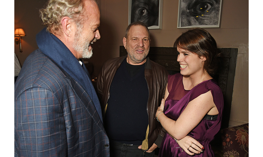 Princess Eugenie shared a laugh with TV legend Kelsey Grammer and Harvey Weinstein at a VIP screening of <em>Lion</em> at Soho House in London. The event was hosted by Harvey and his designer wife Georgina Chapman.
