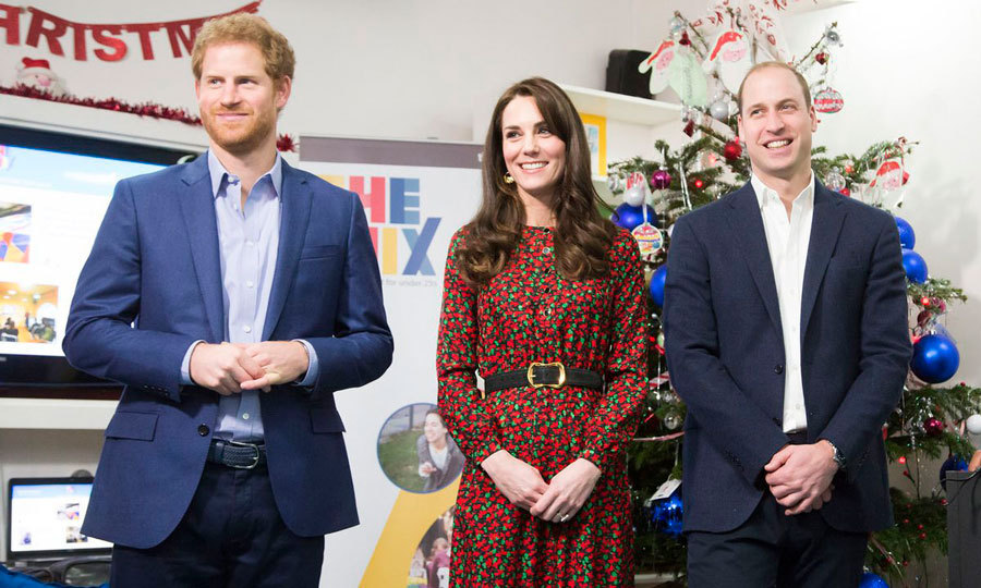 Prince William, Kate and Prince Harry were the guests of honour at a holiday party hosted by youth support service The Mix. The organization provides online and phone based support to 2 million young people every year.