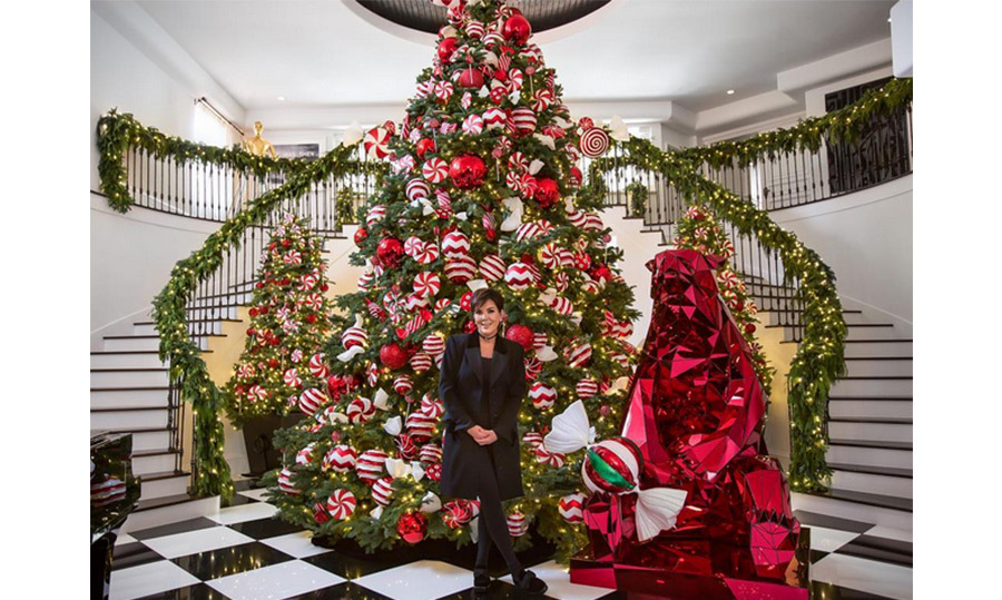 Kandyland-Chic is how Kris Jenner describes her elaborate Christmas display. 