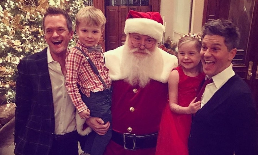 Neil Patrick Harris and David Burtka took the kids to meet Santa in NYC.