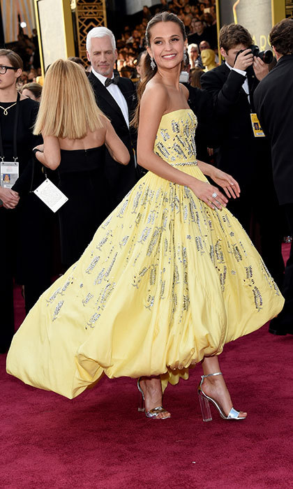 "Alicia Vikander was the true ""Belle"" of the ball in a <em>Beauty and the Beast </em>-inspired pale yellow Louis Vuitton gown at the Oscars. The Swedish style star clinched the Oscar that night for her supporting role in <em>The Danish Girl</em>.