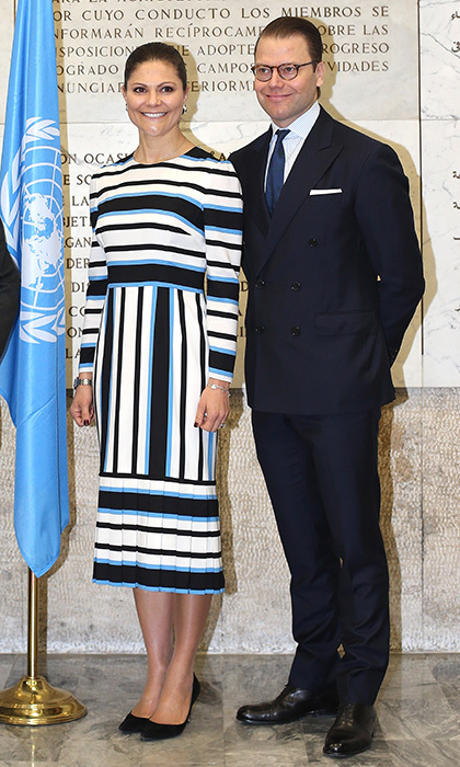 "<a href=""/tags/0/princess-victoria/"" target=""_blank"">Princess Victoria of Sweden</a> was right in line with the trend in Dolce and Gabbana alongside husband Prince Daniel during a visit to Rome.