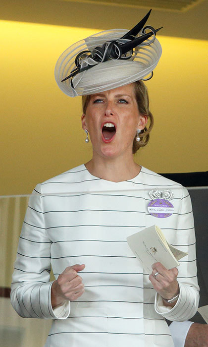 Sophie, Countess of Wessex cheered on her horse in a Emilia Wickstead dress at Royal Ascot.