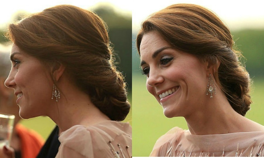 "<a href=""/tags/kate-middleton/"" target=""_blank"">The Duchess of Cambridge</a> was the epitome of elegance at a 2016 fundraiser for East Anglia's Children's Hospices weaving her enviable locks into an intricate updo to show off the neckline of her pearlescent rose sequin Jenny Packham gown.
