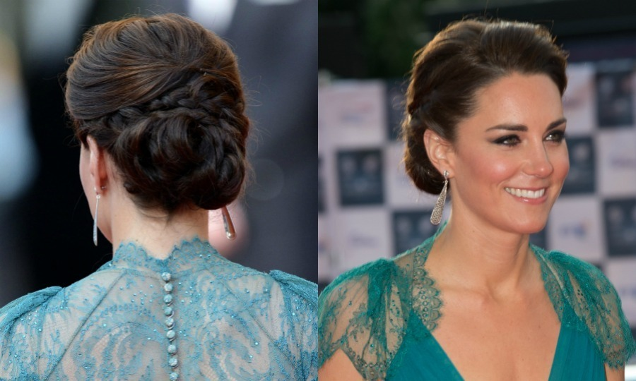 The Duchess of Cambridge brought the glamour to a 2012 London Olympics gala wowing in a Jenny Packham gown, which she paired with a braided updo for the Our Greatest Team Rises event.