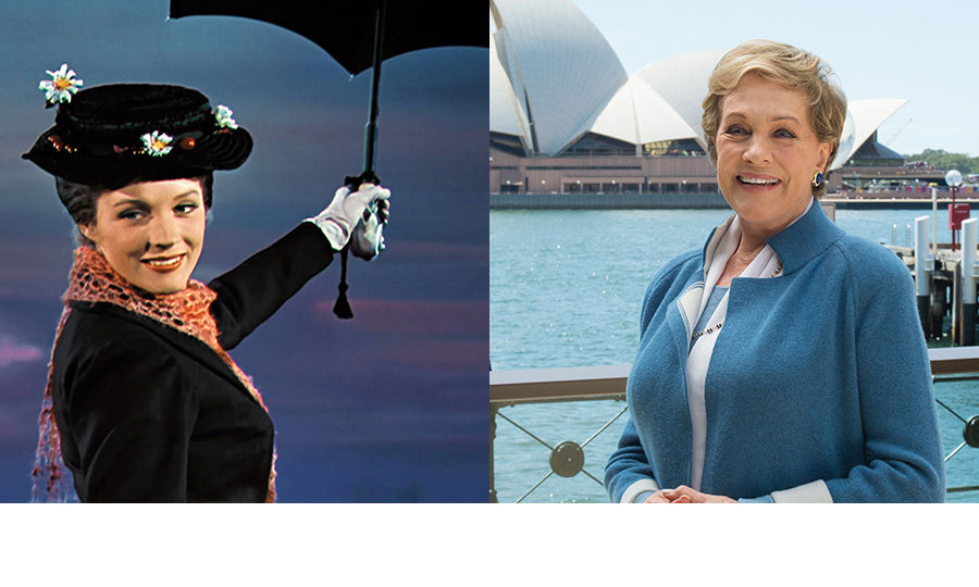 <h3>Julie Andrews</h3><p>Dame Julie Andrews, now 81, has enjoyed a stellar career both on stage and the silver screen. She made her feature film debut in <em>Mary Poppins</em>, a part which earned her the Best Actress Academy Award for her performance in the titular role. The following year, she went on to star in another huge musical hit, playing Maria in <em>The Sound of Music</em>, while in more recent years she has starred in movies including <em>The Princess Diaries</em>, <em>Shrek</em> and <em>Despicable Me</em>.</p><p>In total, Dame Julie has won an Oscar, a BAFTA, five Golden Globes, three Grammys, two Emmys and the Screen Actors Guild Lifetime Achievement Award.</p><p>Photo: &copy; Rex</p>