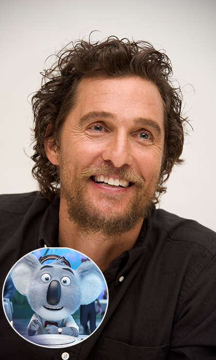 In the new animated flick <em>Sing</em>, <em>Dallas Buyers Club</em> star Matthew McConaughey plays a entrepreneurial koala who launches a singing competition to save his business. The actor revealed that he sought out the role of Buster Moon in order to have a title in his repertoire that his three children could enjoy. 