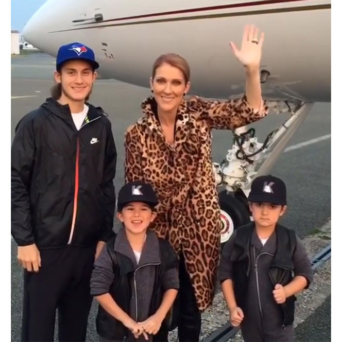 Celine's travel style took centre stage when she stepped off her private plane wearing a leopard-print trench coat. 