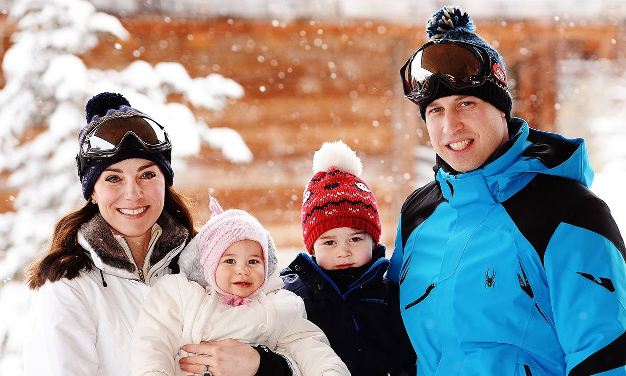 The Duke and Duchess of Cambridge share photos from first family skiing holiday