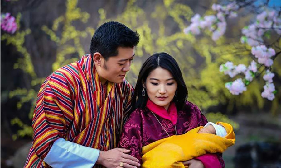 King Jigme and Queen Jetsun welcomed their son Jigme Namgyel Wangchuck on Feb. 5. 