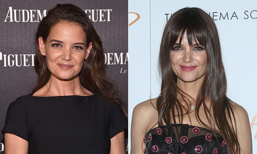 "<h3><a href=""/tags/0/katie-holmes/"" target=""_blank"">Katie Holmes</a></h3><p>Katie Holmes gave us all hair envy when she debuted her blunt bangs and glossy locks at the beginning of December.</p><p>Photo: &copy; Getty Images</p>"