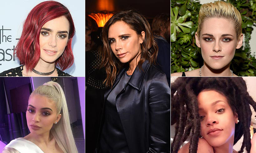 From bold hues to new textures, see how the stars transformed their hair in 2016!