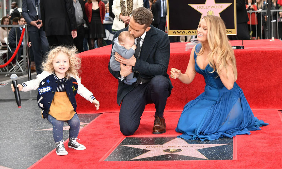 Ryan Reynolds and Blake Lively's eldest daughter James stole the show at her first public appearance to support her dad, who was honoured with a star on the Hollywood Walk of Fame.