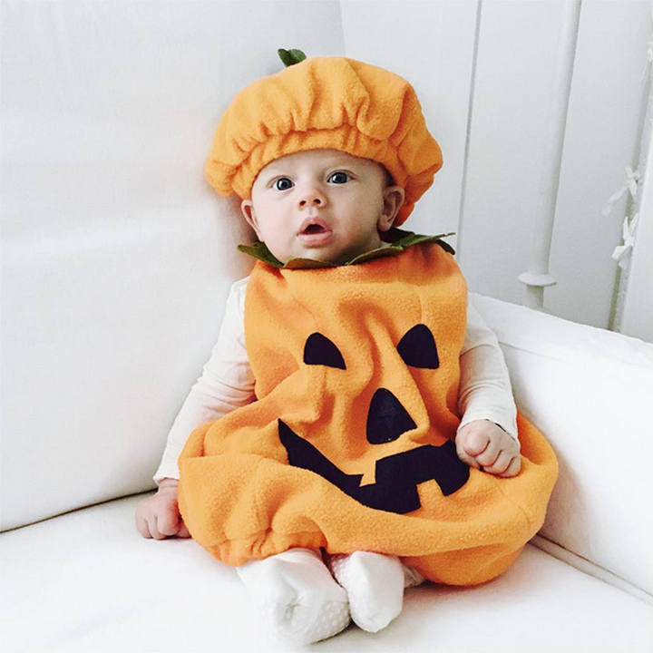 Jillian Harris and Justin Pasutto's baby boy Leo was the world's cutest pumpkin for Halloween.