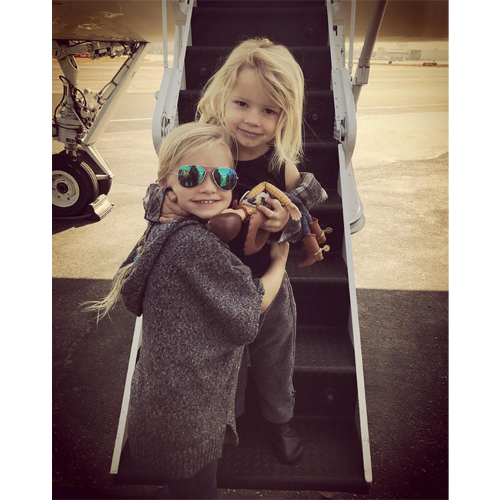 Jessica Simpson's daughter Maxwell, 4, and three-year-old  son Ace are all about the jet set life. 