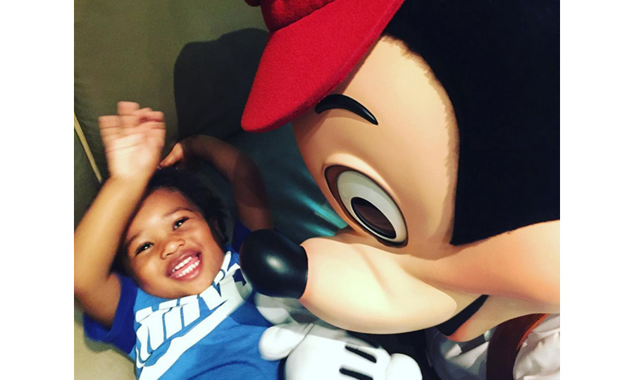 Ciara's son Future found a new best friend in Mickey Mouse at Disneyland. 